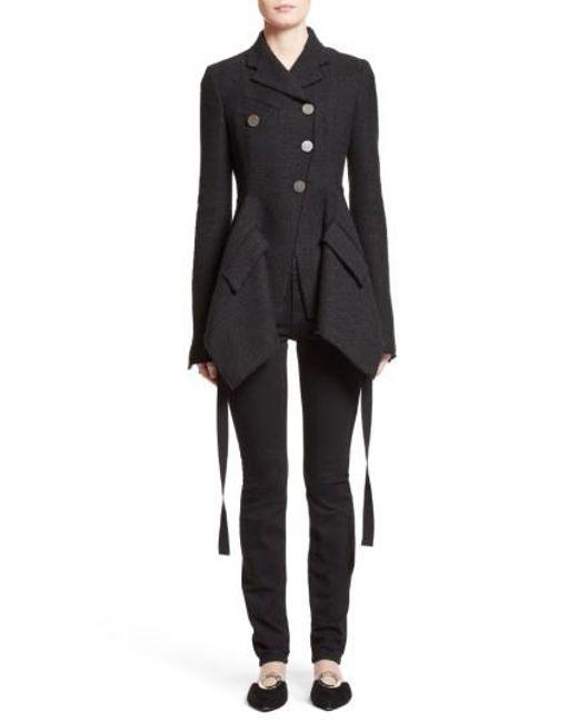 Proenza Schouler   Black Asymmetrical Tweed Jacket   Lyst