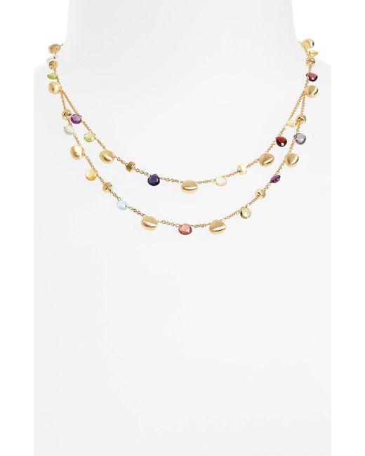 Marco Bicego Metallic Paradise Semiprecious Stone Double Strand Necklace