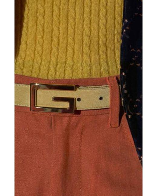 Gucci - Black Suede Belt for Men - Lyst