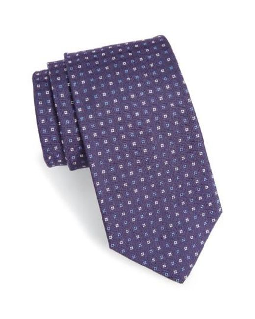 Gitman Brothers Vintage | Purple Geometric Silk Tie for Men | Lyst