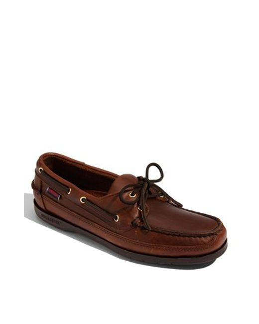 Sebago | Brown 'schooner' Boat Shoe for Men | Lyst