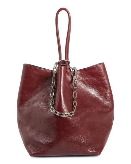 dc4795ca35fd Lyst - Alexander Wang Large Roxy Leather Tote Bag in Red