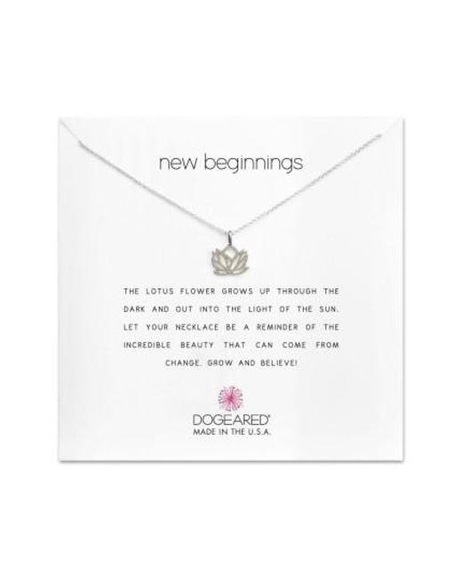 Dogeared | Metallic Lotus Reminder Pendant Necklace | Lyst