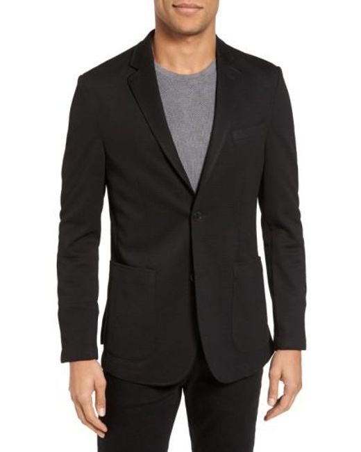 Vince Camuto | Black Slim Fit Stretch Knit Blazer for Men | Lyst