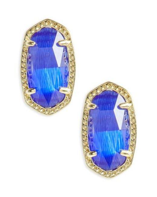Kendra Scott | Blue Ellie Birthstone Stud Earrings | Lyst