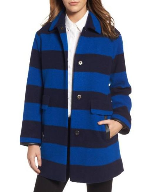 Pendleton   Blue Paul Bunyan Plaid Wool Blend Barn Coat   Lyst