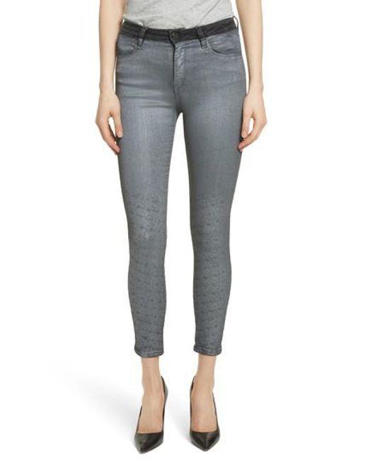 Brockenbow - Blue Reina Glitter Skinny Jeans - Lyst