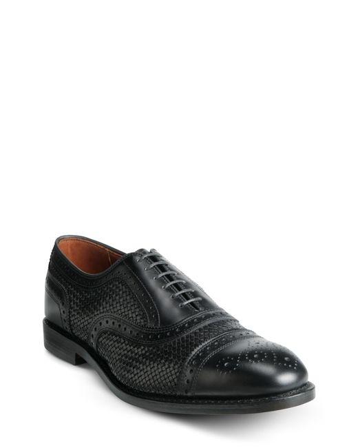 Allen Edmonds Black Strand Weave Toe Oxford for men