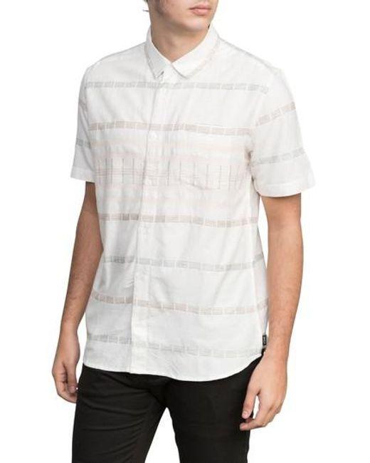 RVCA - White Krazy Kat Woven Shirt for Men - Lyst