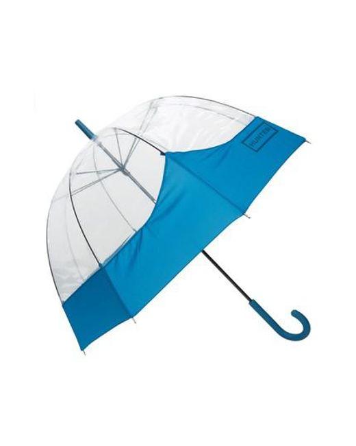 Hunter - Blue 'moustache' Bubble Umbrella - Lyst