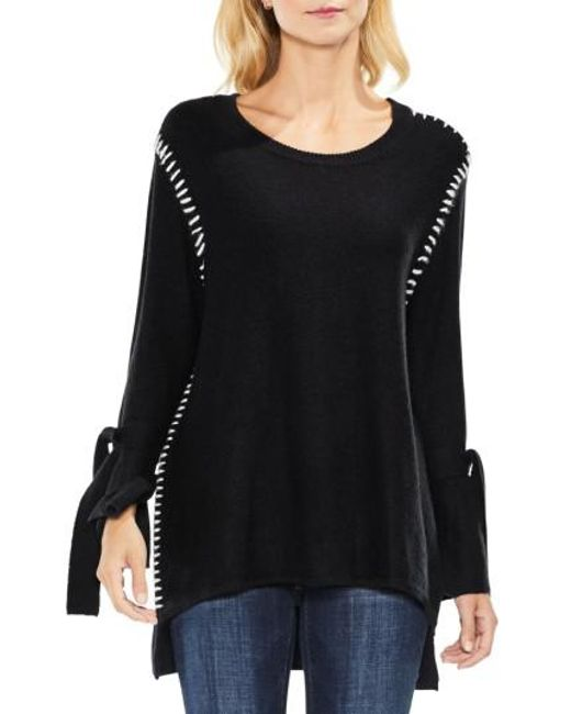 Two By Vince Camuto | Black Tie Sleeve Sweater | Lyst