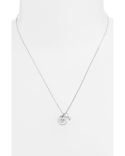 Nashelle - Metallic Semiprecious Birthstone Sterling Silver Zodiac Mini Disc Necklace - Lyst