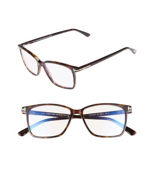 5be74563c8c9 Tom Ford - 55mm Blue Block Optical Glasses - Dark Havana  Blue - Lyst ...