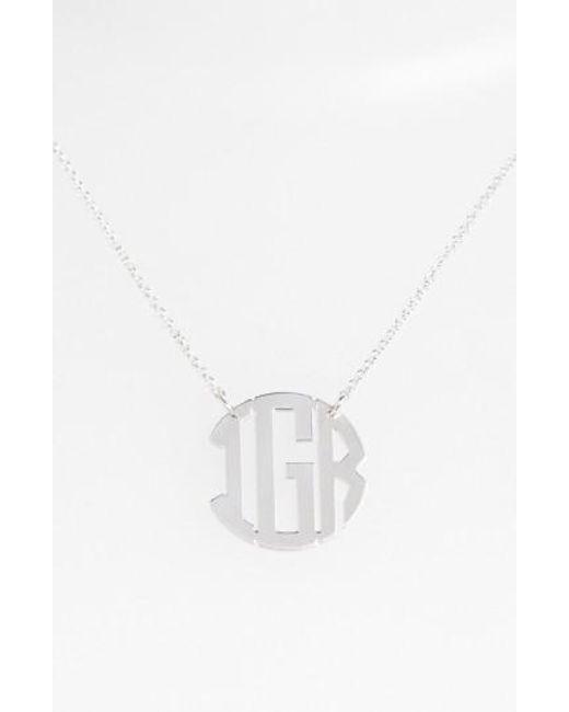Argento Vivo | Metallic Personalized 3-initial Block Monogram Necklace (nordstrom Online Exclusive) | Lyst
