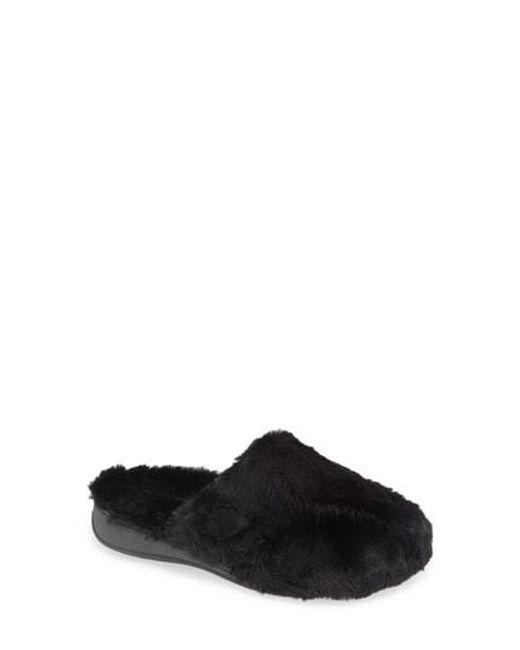 da4305f8b05c Lyst - Vionic Gemma Plush Slipper in Black