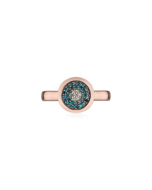 Monica Vinader - Multicolor Evil Eye Diamond Ring - Lyst