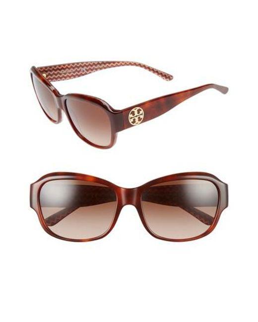 Tory Burch | Brown 57mm Gradient Sunglasses | Lyst
