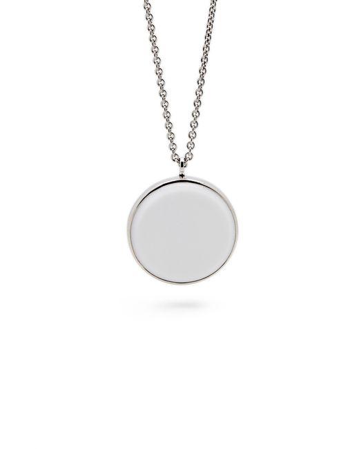 Tom Wood - Metallic White Agate Medallion Necklace - Lyst