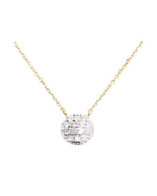 Dana Rebecca Metallic 'lauren Joy' Diamond Disc Pendant Necklace
