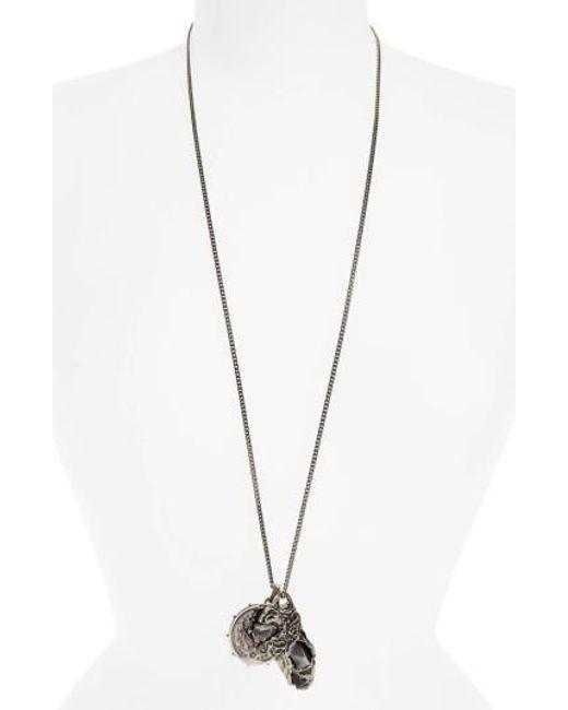 Alexander McQueen - Metallic Medallion Pendant Necklace - Lyst