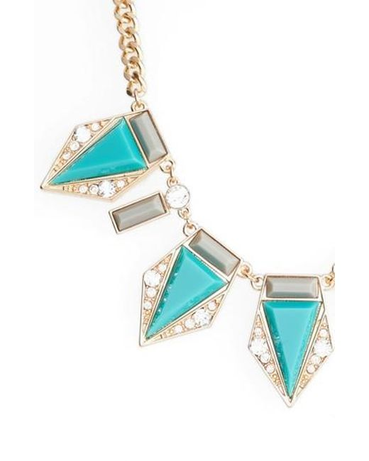 Adia Kibur | Blue Triangle Stone Necklace | Lyst