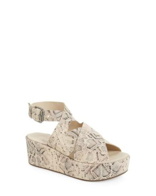 Matisse | Natural Runway Wedge Sandal | Lyst
