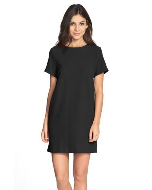 Felicity & Coco | Black Crepe Shift Dress | Lyst
