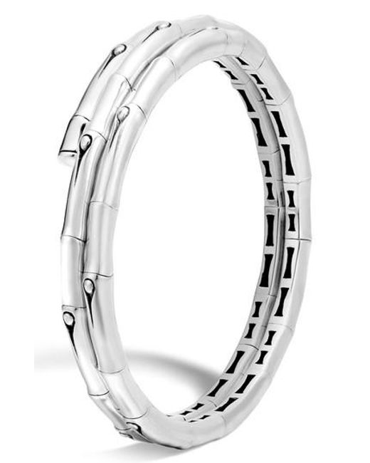 John Hardy - Metallic Bamboo Small Double Coil Bracelet - Lyst