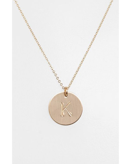 Nashelle - Metallic 14k-gold Fill Initial Disc Necklace - Lyst