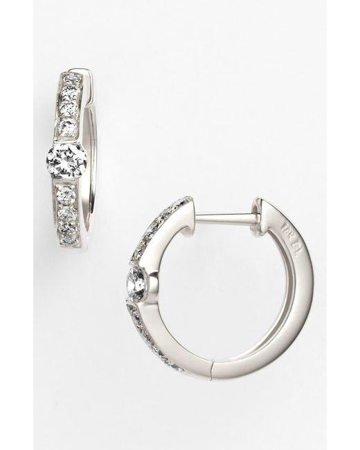 Bony Levy Metallic Linea Diamond Huggie Earrings (nordstrom Exclusive)