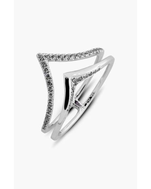 Bony Levy   Metallic Prism Chevron Diamond Ring (limited Edition) (nordstrom Exclusive)   Lyst