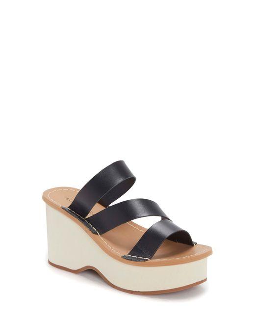 Lucky Brand Black Mimya Platform Wedge Slide Sandal
