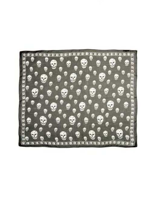 Alexander McQueen   Black 'skull' Chiffon Scarf   Lyst