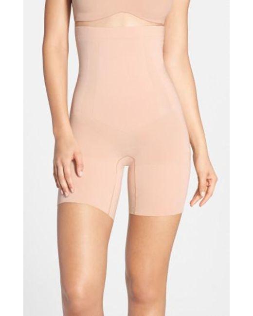 Spanx | Pink Spanx Oncore High Waist Mid Thigh Shaper | Lyst