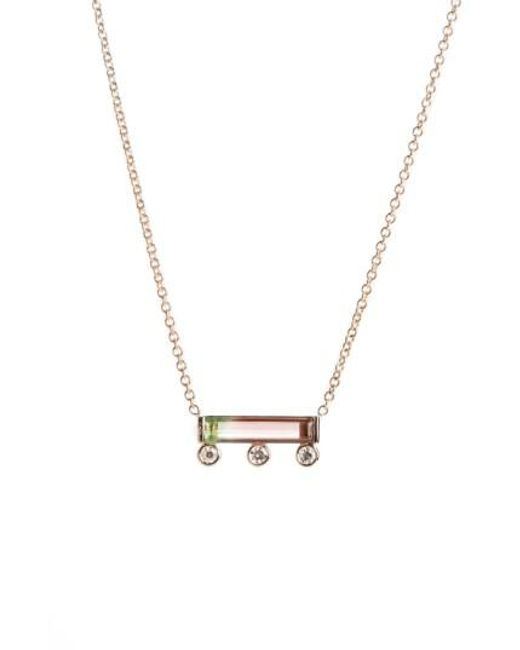 Mociun | Metallic Watermelon Tourmaline & Diamond Necklace (nordstrom Exclusive) | Lyst