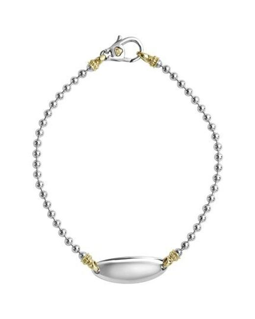 Lagos - Metallic Beloved Oval Plate Bracelet - Lyst