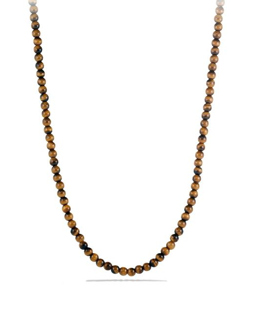 David Yurman Multicolor 'spiritual Beads' Necklace With Stone for men