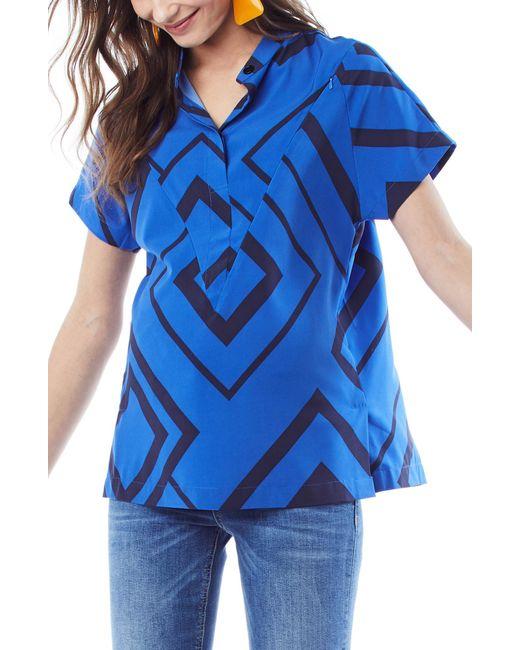 Loyal Hana - Blue Mia Nursing Shirt - Lyst