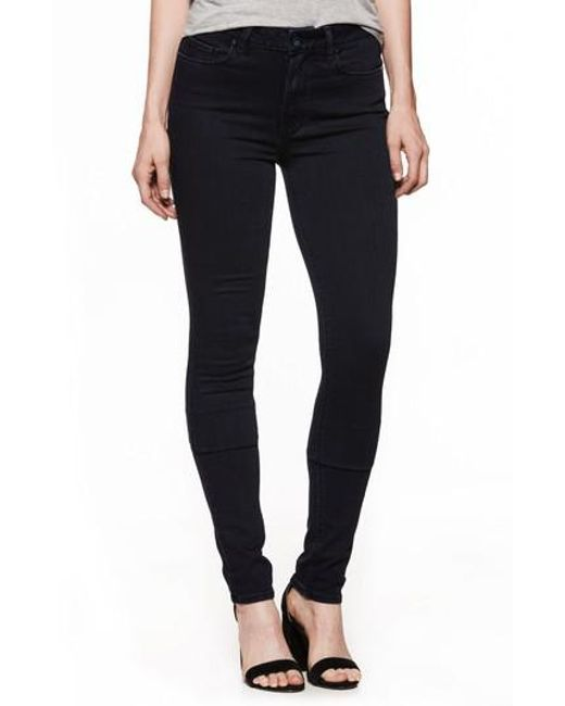 PAIGE - Blue Transcend - Leggy High Waist Ultra Skinny Jeans - Lyst