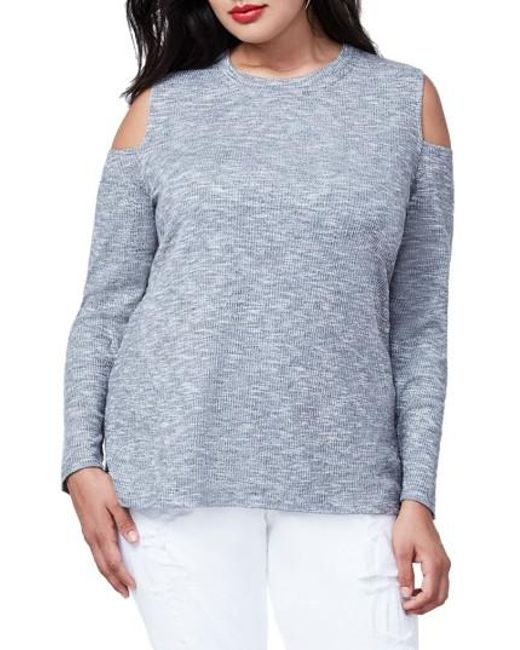 RACHEL Rachel Roy | Gray Cold Shoulder Top | Lyst