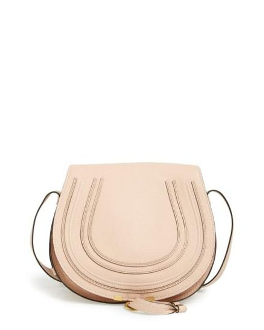 Chloé | Gray Medium Marcie Leather Saddle Bag | Lyst
