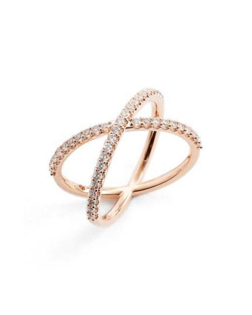 Nadri | Metallic Crossover Cubic Zirconia Ring | Lyst