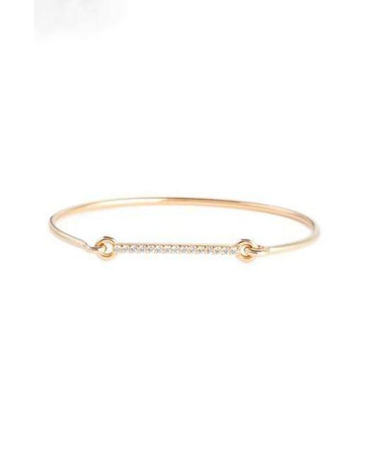 Jemma Wynne Prive Diamond Slider Bracelet in 18K Rose Gold CHnvY
