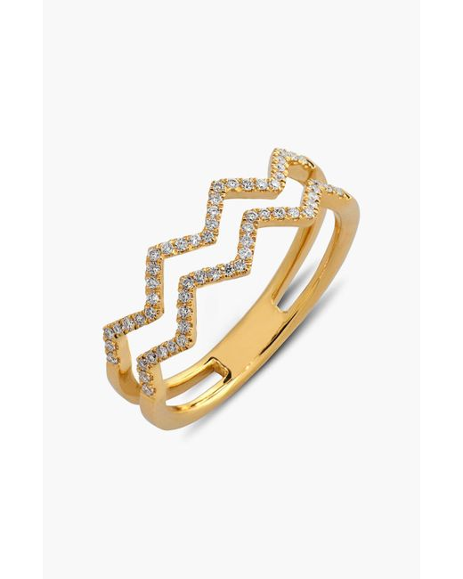 Bony Levy - Metallic Prism 2-row Diamond Ring (limited Edition) (nordstrom Exclusive) - Lyst