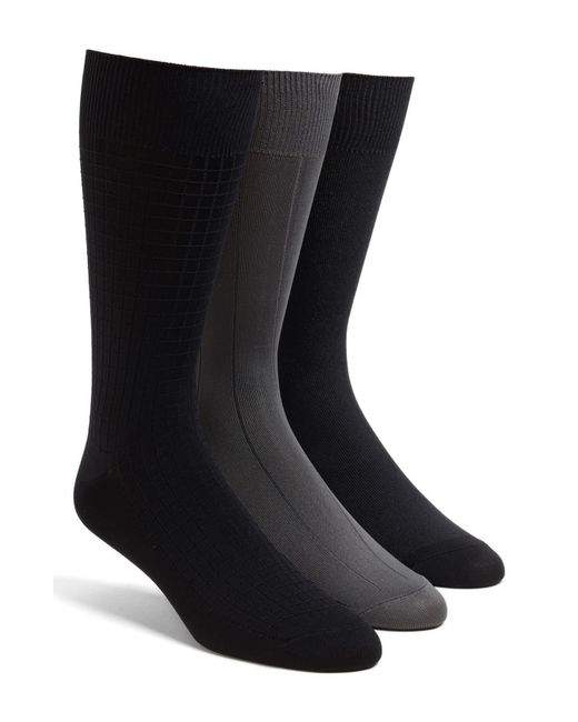 Calvin Klein Black 3-pack Microfiber Socks, Grey for men