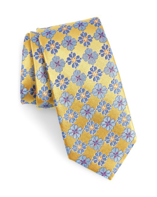 Nordstrom Yellow Cole Floral Silk Tie for men
