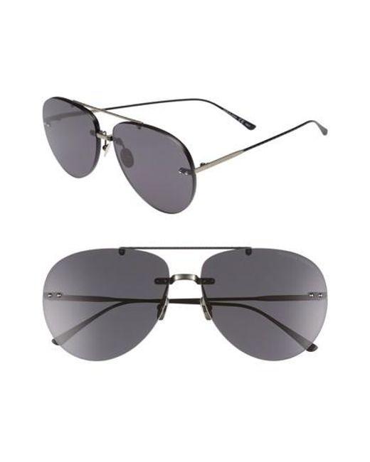 Bottega Veneta - Metallic 63mm Aviator Sunglasses - Lyst