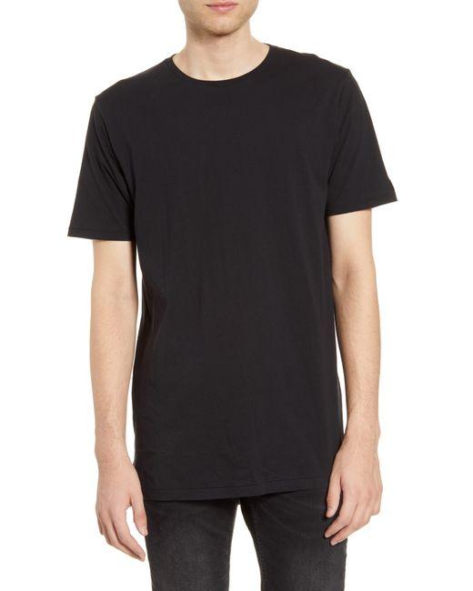 Zanerobe Black Flintlock Longline Crewneck T-shirt for men