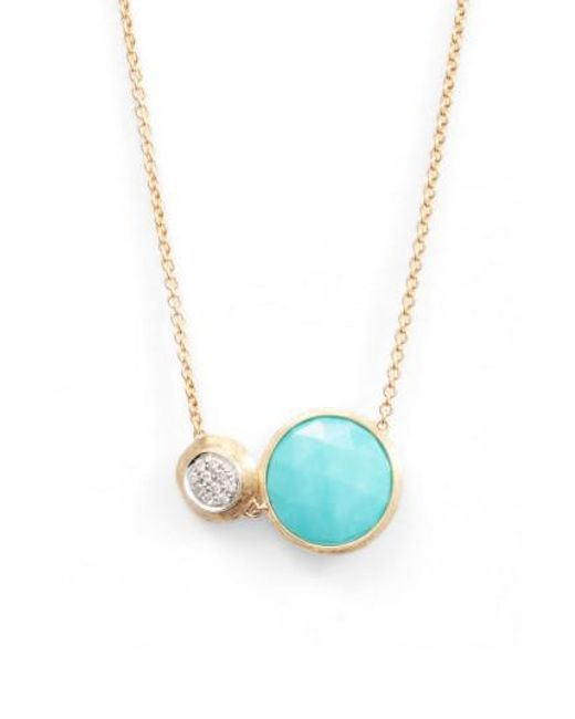 Marco Bicego | Blue Jaipur Turquoise & Diamond Pendant Necklace | Lyst