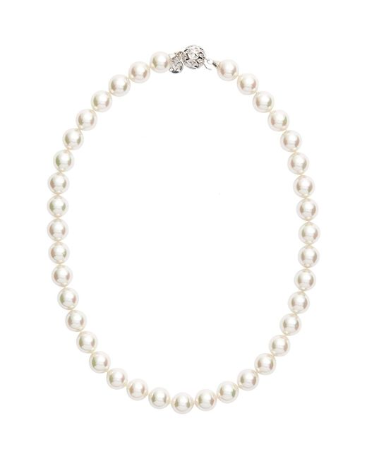 Majorica - White 12mm Round Simulated Pearl Necklace - Lyst